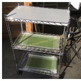 Wire 3 Shelf Cart