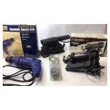 Elec Hand Held Spiral Saw, Drill, & Sander