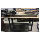 Workbench w/ Attached Craftsman Lathe