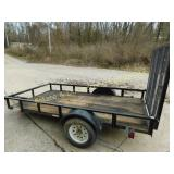 Light Weight Utiliy Trailer with Folding Ramp 5x10