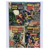 1965-66 Marvel #71 #72 #73 #74 Iron Man Capt Amer