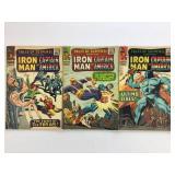 1966 Tales Susp #75 #76 #77 #78 Iron Man & Capt Am