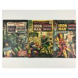 1966 Tales Susp #79 #80 #81 Iron Man & Capt Amer
