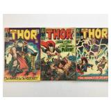 1966 The Mighty Thor #127, 128, 129