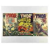 Marvel Comics The Mighty Thor #138 #139 #140