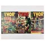 Marvel Comics The Mighty Thor #145 #146 #147