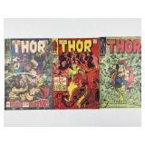 Marvel Comics The Mighty Thor #152 #153 #154