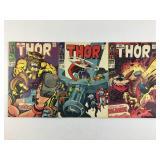 Marvel Comics The Mighty Thor #155 #156 #157