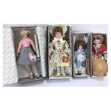 3 Dynasty Dolls + Knowles Poodle Skirt Doll