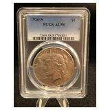 1926-S Peace Dollar PCGS Au58