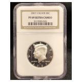 2007-S Kennedy Silver Half Dollar PF69 ULTRA