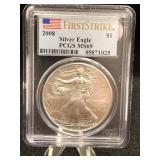 2008 Silver Eagle First Strike PCGS MS69