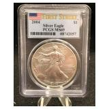 2004 Silver Eagle First Strike PCGS MS69