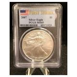 2007 Silver Eagle First Strike PCGS MS69