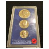 1976 24kt Gold Layered Coin Set