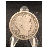 1907 Barber Silver Half Dollafr