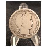 1900-O Barber Silver Half Dollar