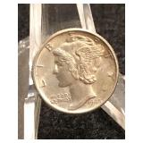 1945  Uncirculated Mercury Dime