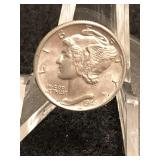 1942 Uncirculated Mercury Dime