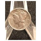 1937  Uncirculated Mercury Dime