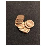 Lot of 10 Uncirculated Wheat Cents