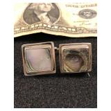 .925 Silver Cuff Links with Abalone