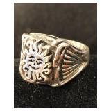 Sterling Ring   Size 8  - 11.75 grams