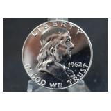 1962 Franklin Silver Proof Half Dollar High Grade