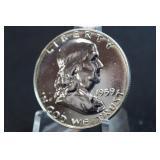 1959 Proof Bullseye Toned Silver Half Dollar