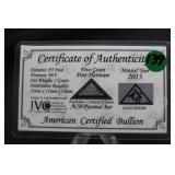 5 Grain Certified Pure .999 Platinum Bar