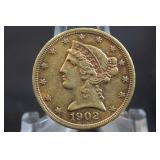 1902-S $5 Liberty Head Gold Coin