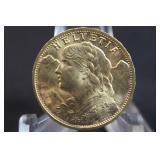 1927 Switzerland Gold 20 Franc