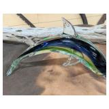"""Beautiful Glass Dolphin Approximately 12"""" Long"""