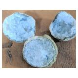Lot of 3 Small Geodes