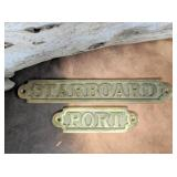 Brass STARBOARD  and PORT Plaque