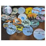 Lot of 19 Metal Advertising Buttons
