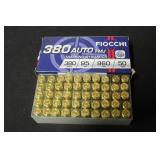 1 Box of 50 .380 Ammunition New!
