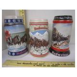 Budweiser Beer Steins; 1985 & 1992