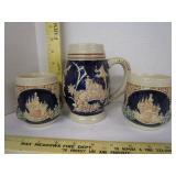 Gerz West German beer stein & mugs