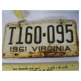 License plates; matching set 1961