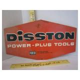 Sign; Disston Power-Plus Tools; fiber glass double