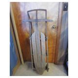 Primitive wooden sled