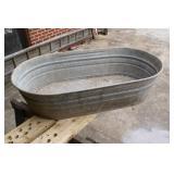 Nice galvanized water tub; rumor has it the Lone