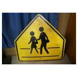 School Crossing sign; City of Durham