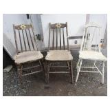 Chippy paint chairs; (3) pick up only with in 2