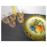 Retro orange juice glasses & Napco ware decorative