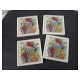 Beautiful Cardinal coasters (4)