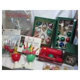 Christmas Decor,  Bubble Lights,  & Ornaments