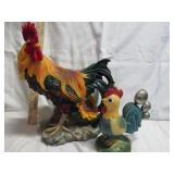 Resin Rooster & Kitchen Spoons