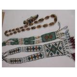 Hand Beaded Necklace & Looks Like Tiger